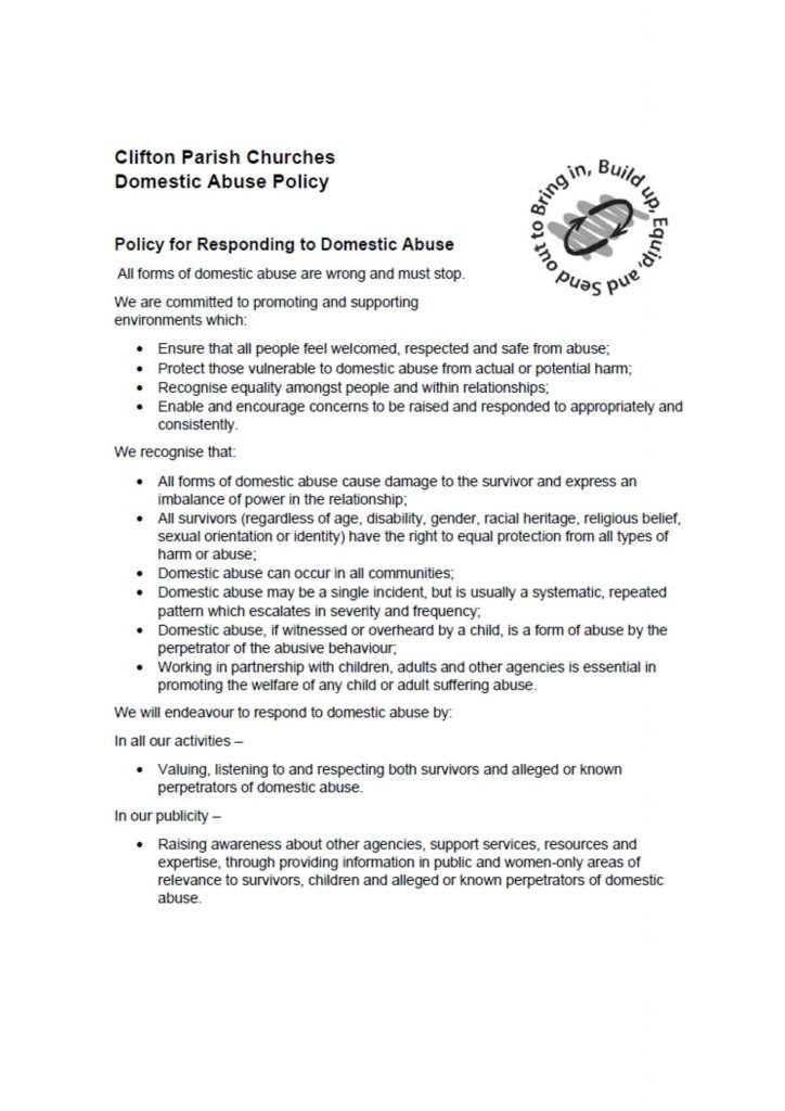 Domestic Abuse Policy